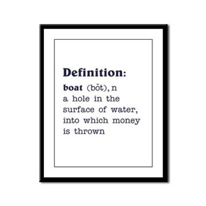 Boat Definition Framed Panel Print
